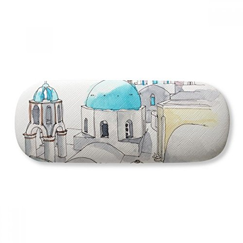 Imerovigli Village In Santorini Greece Glasses Case Eyeglasses Clam Shell Holder Storage Box