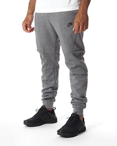 Nike Mens Sportswear Tech Fleece Jogger Sweatpants Carbon Heather/Black 805162-091 Size X-Large