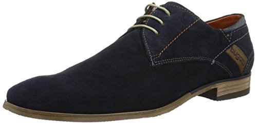 Bugatti 311151031400, Zapatos de Cordones Derby para Hombre Azul (Dark Blue 4100)
