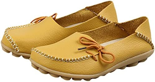 Hishoes, Mocassini Donna, Giallo (Yellow), 35