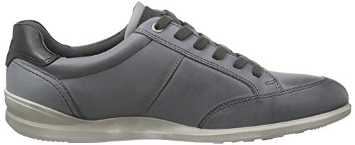 Ecco Mens Chander Retro Sneaker In Titanio