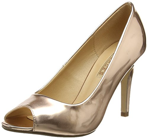 Buffalo Shoes 314669 HM 333, Damen Peep-Toe Pumps, Beige (CHAMPAGNE 01), 39 EU