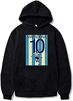 伝説のボールキングマラドーナフード付きセーターカップルカジュアルスポーツプルオーバージャケット