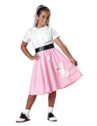 Poodle Skirt Child Costume, Size Small