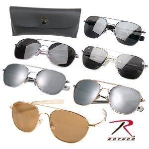 Aviator Sunglasses Chrome Frame - Aviator Sunglasses (Chrome Frames w Smoke lens)