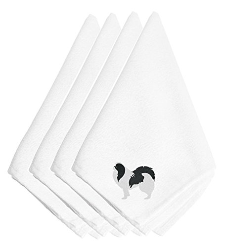 Caroline's Treasures BB3437NPKE Japanese Chin Embroidered Napkins (Set of 4), 20'', Multicolor by Caroline's Treasures