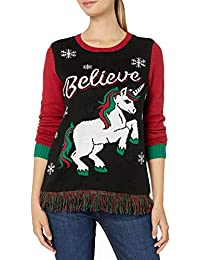 Light-Up Pullover Xmas Sweaters Multi-Colored LED Flashing Lights Juniors