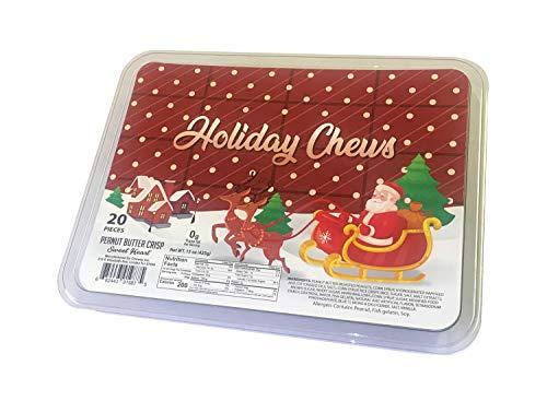 - Holiday Chews Peanut Butter Crisp Sweet Heart Treats 20 Pieces
