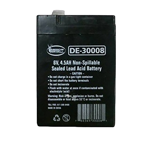 - AMERICAN HUNTER Decoy Mojo 6 Volt 4.5 AMP Rechargeable Battery (Black)