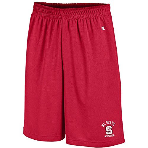 North Mens Carolina Shorts - Champion NCAA North Carolina State Wolfpack Men's Men's Classic Team Mesh Short, Small, Scarlet