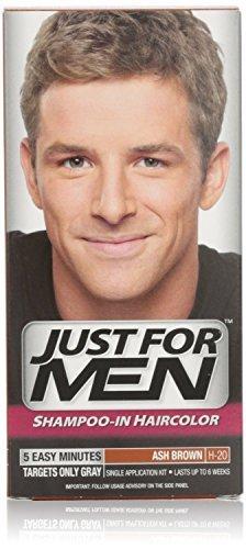Just for Men shampooing en Couleur des cheveux, Ash Brown H-20, une application (Pack de 2)