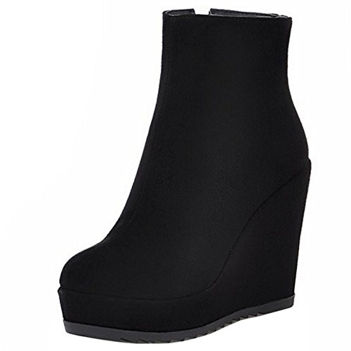 Zanpa Fashion Women B07FYZYGF3 Wedges Heels Bootie Zipper B07FYZYGF3 Women Shoes ce7932