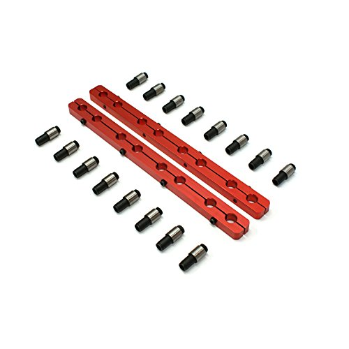 (Chevy SBC 350 Rocker Stud Girdle Kit Red With 7/16