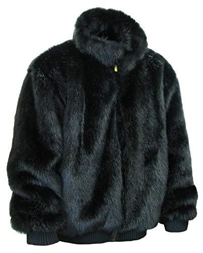 Ablanche Urban Fur Fitter Men's Faux Fur Reversible Jacket 9FJ01 Mink Black