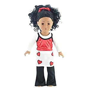 "18 Inch Dolls Clothes/clothing Fits American Girl - Jazz Dance Outfit Includes 18"" Doll Accessories"