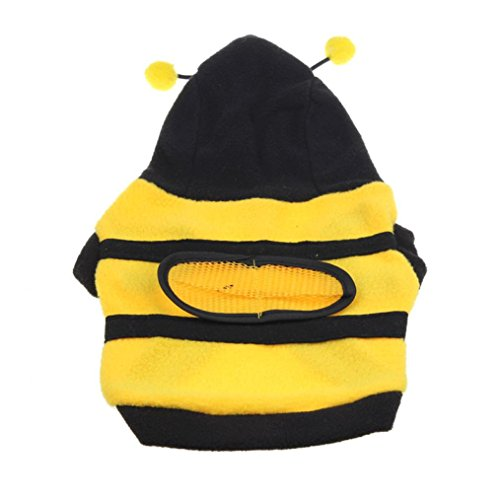 Bee Small Costume Dog Bumble (Dog Shirt, Creazy ® Cute Bumble Bee Lovely Wings Dog Cat Pet Coat Hoodie)