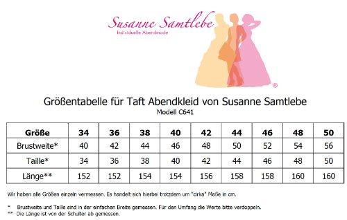 Samtlebe® C641 ElegantesTaft Abendkleid 1-teilig lang Aqua Gr. 34-50 inkl. Stola Aqua PAoUS3SZc