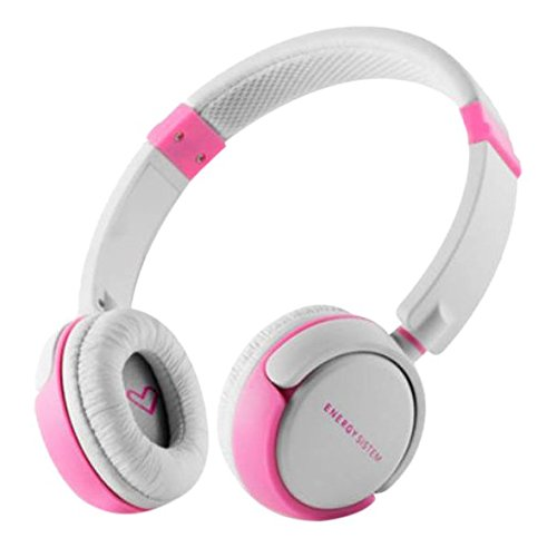 Headphones Energy DJ 310 White & Pink Freestyle with Microphone