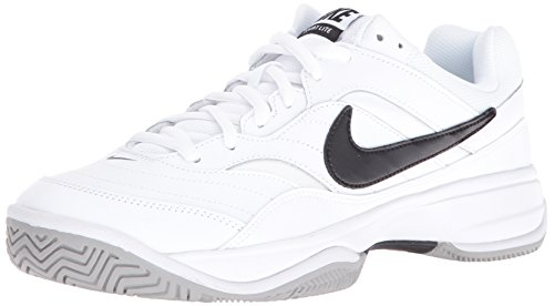(NIKE Men's Court Lite Tennis Shoe, White/Medium Grey/Black, 10 D(M) US)