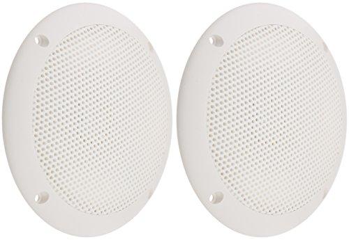 PQN Enterprises ECO50-4W Waterproof Ultra-Slim RV Marine Speaker, White, 5
