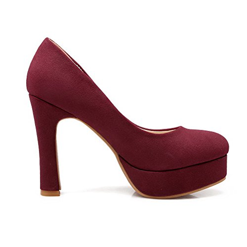 Scarpe pompe Tacchi Donne Weipoot Alti on Vernice Delle Soild Rosse Pull nCw8zxxF