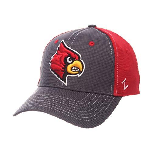 Zephyr NCAA Louisville Cardinals Adult Men Grid Cap, Medium/Large, Gray/Team (Louisville Cap)