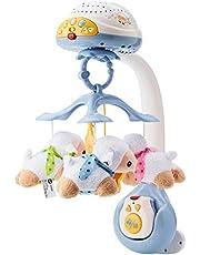 VTech - Mobiele projector met schaaptelling, speelgoed voor baby's, meer dan 70 nana's, liedjes, geluiden en spreuken, inclusief afstandsbediening (3480-503322), meerkleurig, 0-24 maanden