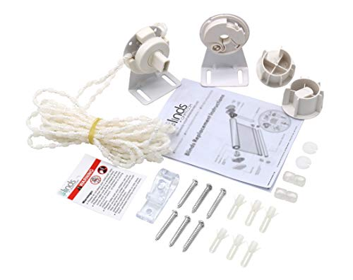 BLINDSOHMY - Roller Shade Clutch Kit 38mm + FREE E-book, Roller Shade Clutch Bracket + 3 Meters Plastic Beaded Chain Repair + 2 Blinds Connectors, Shade Repair kit for 38mm Tube, Item: #LRC 28/3801+ (Best Quality Roller Blinds)