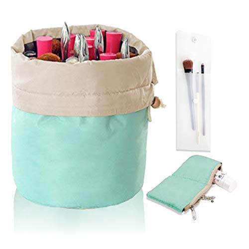 PACKNBUY Cosmetic Makeup Bag Organizer Travel Pouch  Green