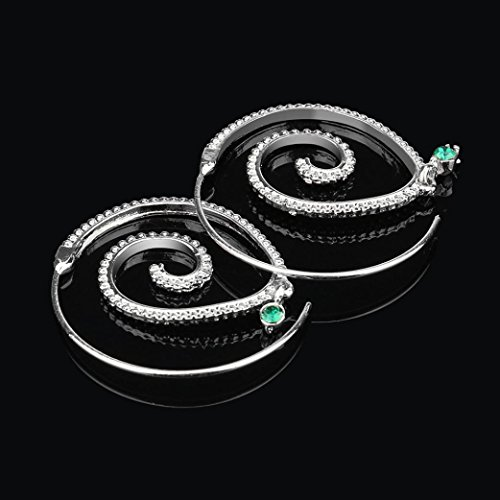 AliveGOT Drop Dangle Spiral Hoop Earrings Set Vintage Tribal Swirl Earrings for Women (Silver) -