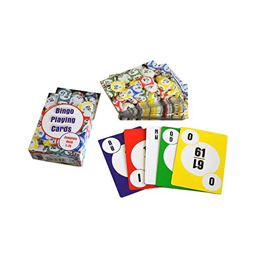 HAYES SPECIALTIES 2 Pack Bingo Calling Cards, Complete Deck of 75 Numbers