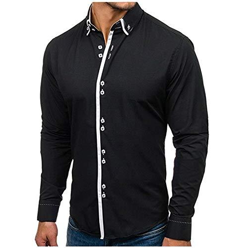 Noir XL Trydoit à Manches Longues pour Homme Manches Longues Décontracté Manches Longues T-Shirt