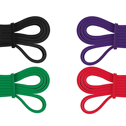 Heavy Duty Resistance Bands Set Latex Mobility Powerlifting Exercise Bands Perfect for Body Workout Stretching Training Weightlifting Pull Up Assist Bands Set of 4