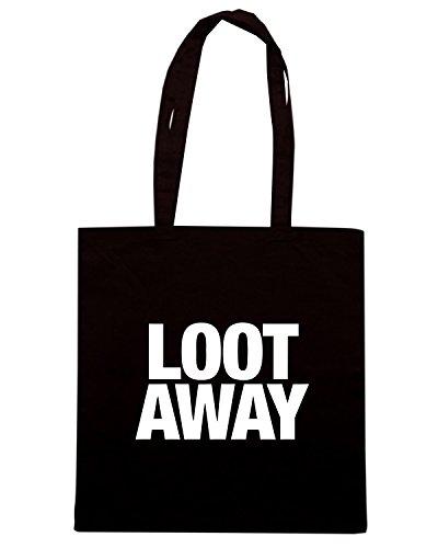 T-Shirtshock - Bolsa para la compra WC0471 LOOT AWAY Negro
