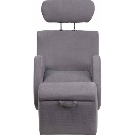 Flash Furniture LD2025BGFAB HERCULES Series Fabric Material Rocking Chair with Storage Ottoman, Gray Color