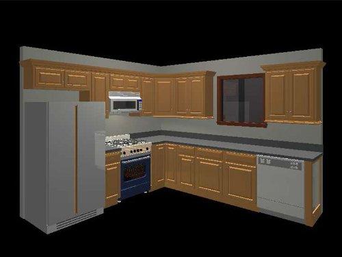 amazon com  10x10 randolph oak kitchen  kitchen  u0026 dining  rh   amazon com