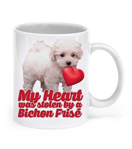 (DogsMakeMeHappy Bichon Frise Mug - Bichon Frise Gifts - My Heart was Stolen by A Bichon Frise - Bichon Coffee Mug)