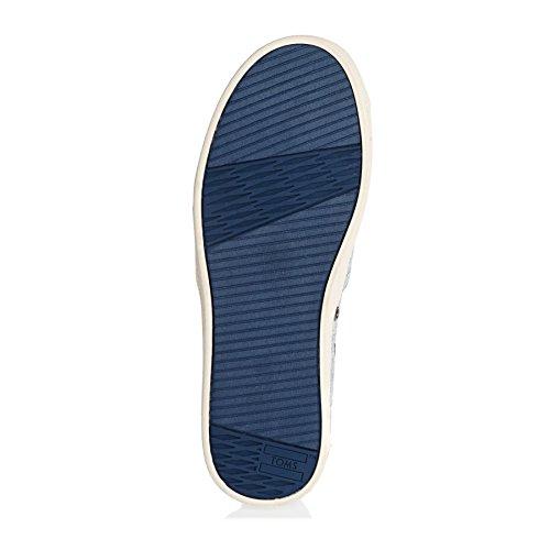 Toms Donna 10006322 Tela Nera Avalon Moda Sneaker Con Piumino Grigio Lurex Intrecciato