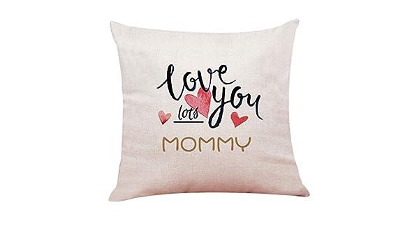 SO-buts Home Decor Happy Mothers Day - Funda de cojín, c ...