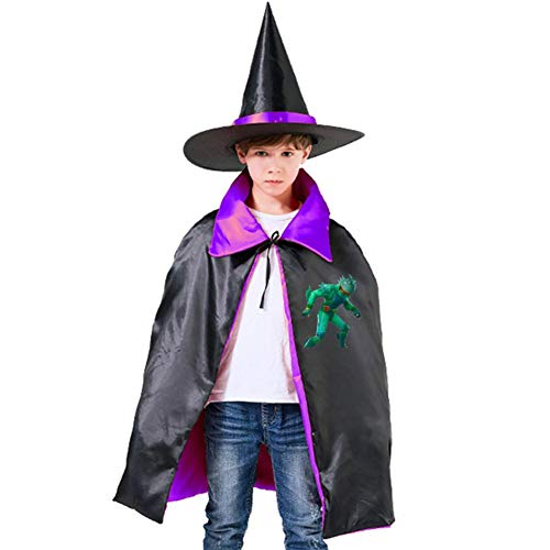 Moisty Merman Halloween Costumes Witch Wizard Cloak With Hat For Christmas Cosplay Boys Girls Purple