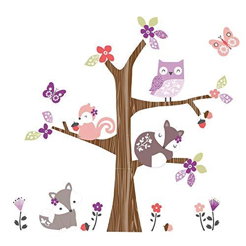 (Bedtime Originals Lavender Woods Wall Decals/Appliques - Pink, Brown,)