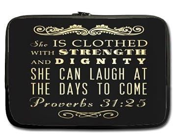 33 Cm Zwei Seiten Neopren Armel Bibel Zitat Spruche 31 º25 Sie