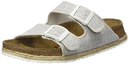 Papillio Arizona Birko-flor - Mules Mujer Gris (Beach Light Gray)