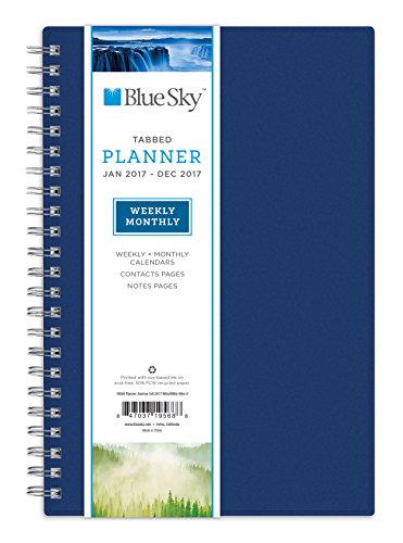 Blue Sky 2017 Weekly & Monthly Planner, Wire-O Binding, 5