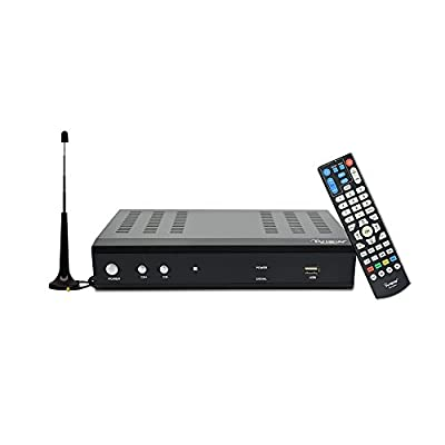 iView Premium Digital Converter Box Recording, Analog to Digital, ATSC / QAM Tuner, Channel 3/4, HDMI, USB, Free Antenna Included