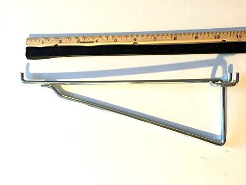 (10 Pack) Metal 10'' Mega Shelf Bracket Garage Hanger fits 1/8'' to 1/4'' Pegboard