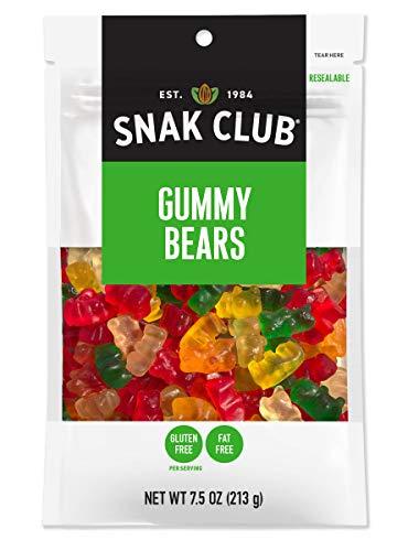 Snak Club Snak Club Gummy Bears, 7.5-oz, 6-Pack, 7.5 Ounce