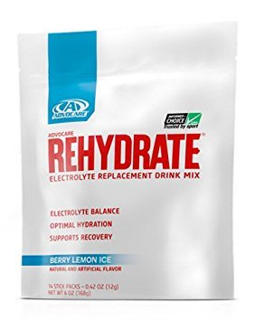 - AdvoCare Rehydrate Berry Lemon Ice Single-Serving 14-Pouches 0.42 oz