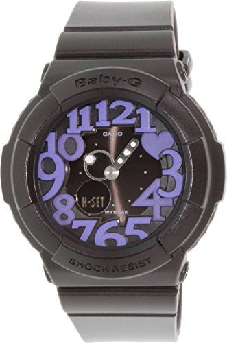 Casio BGA134-1B Baby-G Black Rock Star Neon Illuminator Ladies Watch