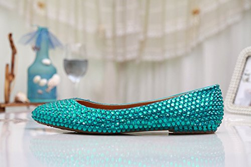 Verde Ballet Green Kevin Crystal Fashion mujer npx8T